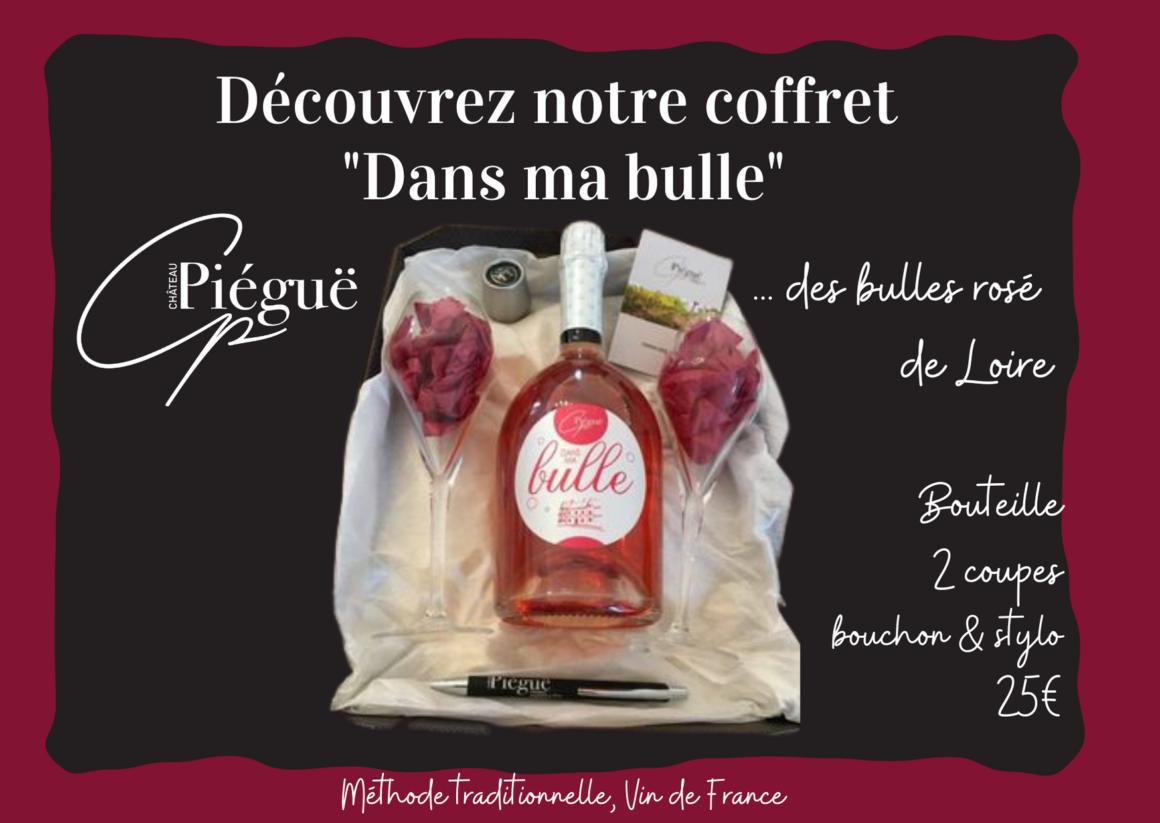 Découvrez les Bulles Rosé de Loire du Château Piégue à Rochefort sur Loire près d'Angers, en Anjou!